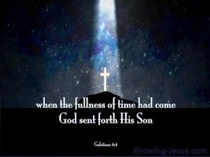 Galatians 4:4 God Sent Forth His Son (blue)