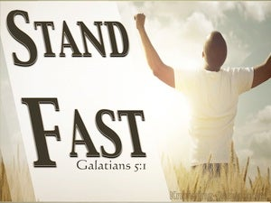 Galatians 5:1 Stand Fast (white)