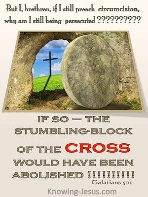 Galatians 5:11The Stumbling Block Of The Cross (beige)