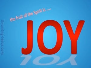 Galatians 5:22 Fruit Of The Spirit Is Joy (red)