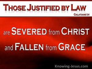 Galatians 5:4 Severed From Christ And Fallen From Grace (red)