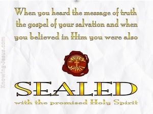 Ephesians 1:13 Sealed With The Holy Spirit yellow