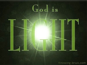 Ephesians 1:18 God Is Light green