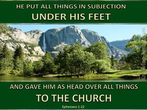 Ephesians 1:22 Head Over All Things To The Church (green)