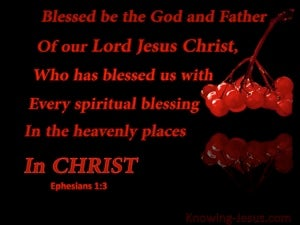 Ephesians 1:3 Every Spiritual Blessing In Christ red