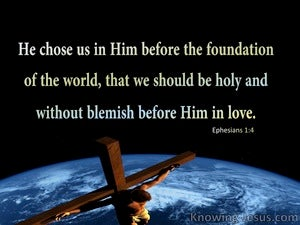 Ephesians 1:4 Chosen in Christ (black)