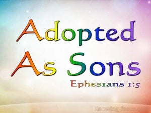 Ephesians 1:5 Predestined To Adoption As Sons blue