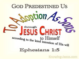 Ephesians 1:5 Predestined To Adoption As Sons red