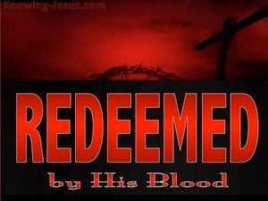 Ephesians 1:7 Redeemed By His Blood red