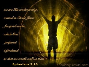 Ephesians 2:10 We Are His Workmanship brown