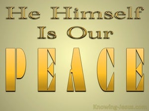 Ephesians 2:14 He Himself Is Our Peace yellow