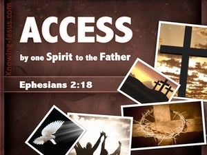 Ephesians 2:18 Access By One Spirit To The Father (brown)