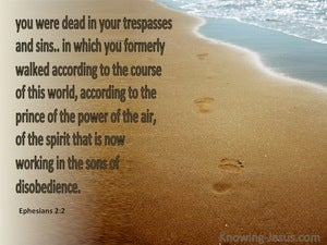 Ephesians 2:2 Sons Of Disobedience brown