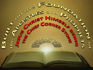 Ephesians 2:20 Jesus Christ The Chief Corner Stone gold