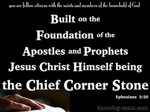 Ephesians 2:20 Jesus Christ The Chief Corner Stone white