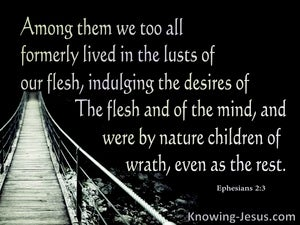 Ephesians 2:3 We Were Once Children Of Wrath (black)
