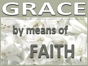 Grace By Means of Faith (devotional)