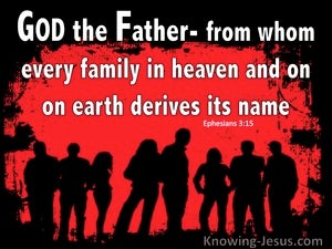Ephesians 3:15 From Whom All Families In Heaven And Earth Are Named (red)