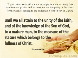 Ephesians 4:13 The Unity Of The Faith yellow