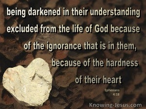 Ephesians 4:18 They Are Darkened In Their Undertanding (brown)