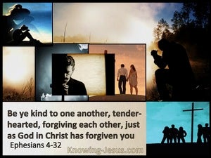 Ephesians 4:32 Be Kind, Tender:hearted, Forgiving Each Other (brown)