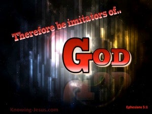 Ephesians 5:1 Be Imitators of God red