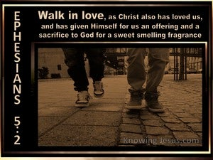Ephesians 5:2 Walk In Love brown