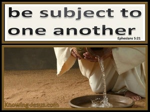Ephesians 5:21 Be Subject To One Another black