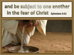 Ephesians 5:21 Be Subject To One Another brown