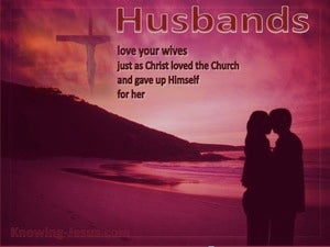 Ephesians 5:25 Husbands Love Your Wives red