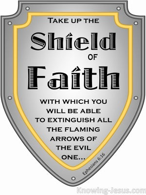 Ephesians 6:16 Taking Up The Shield Of Faith (gray)