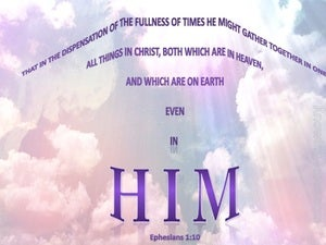 Ephesians 1:10 All Gathered In Christ Jesus (pink)