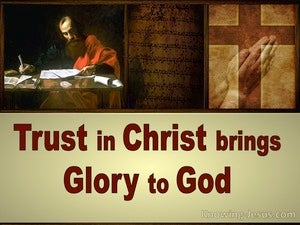 Ephesians 1:12 To Bring Glory To God (red)