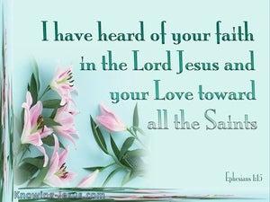 Ephesians 1:15 Faith And Love (pink)