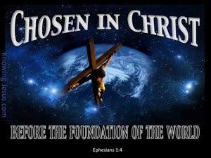 Ephesians 1:4 Chosen In Christ (blue)