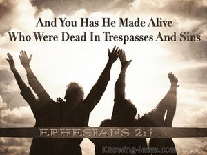 Ephesians 2:1 And You He Made Alive (brown)