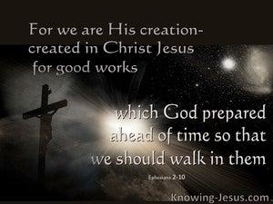 Ephesians 2:10 We Are His Workmanship (black)