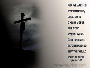 Ephesians 2:10 We Are His Workmanship (gray)