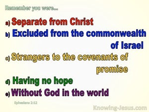 Ephesians 2:12 Remember You were Excluded From The Commonwealth Of Israel (beige)
