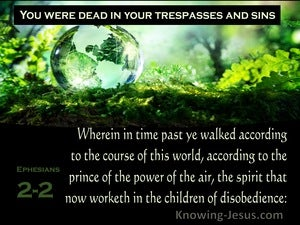 Ephesians 2:2 Sons of Disobedience (green)