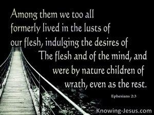 Ephesians 2:3 We Were Once Children Of Wrath (black)