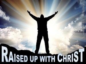 Ephesians 2:6 Raised Up With Christ (black)