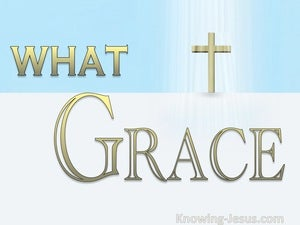 Ephesians 2:7 The Surpassing Riches Of His Grace  (blue) What Grace (devotional)