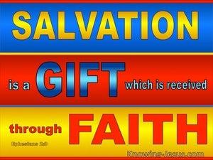 Ephesians 2:8 Salvation By Grace Throgh Faith (blue)