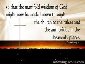 Ephesians 3:10  The Manifold Wisdom Of God (beige)