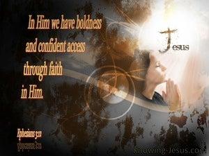 Ephesians 3:12 Access By Faith In Him (gray)