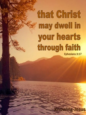 Ephesians 3:17 Christ Dwell In Your Hearts By Faith (brown)