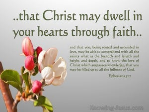 Ephesians 3:17 Christ Dwell In Your Hearts By Faith (pink)