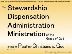 Ephesians 3:2 The Stewardship Of Gods Grace (yellow)