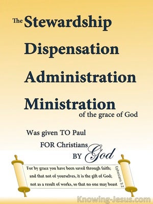 Ephesians 3:2 The Stewardship Of Gods Grace (cream)